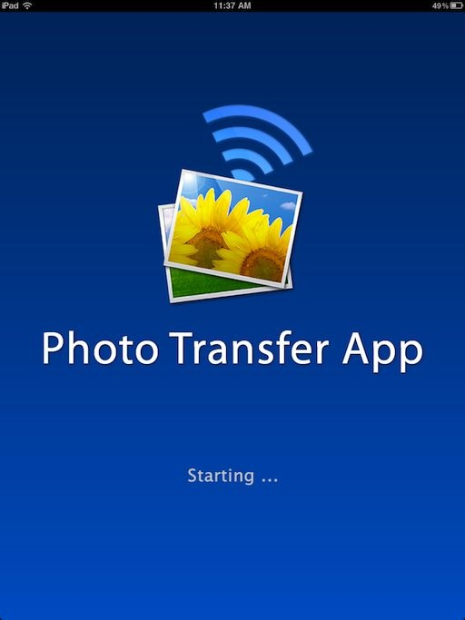 how to use photo transfer app