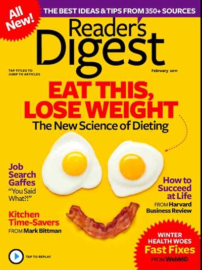 Readers Digest iPad edition