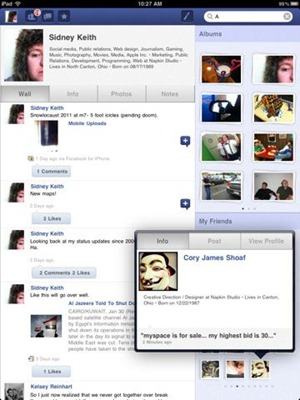 Friended Facebook app for iPad