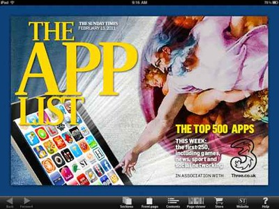The App List from The Sunday Times