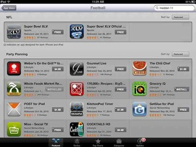 iPad Super Bowl apps
