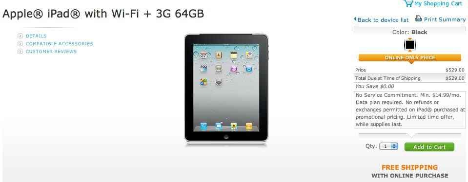 3g deals for ipad