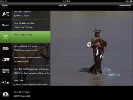 Time Warner Cable live streaming app for iPad