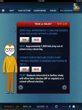 Super School app based on Waiting for Superman