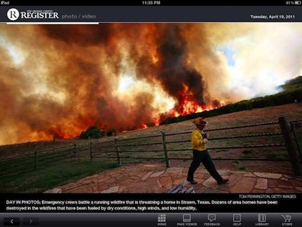 OC Register for iPad