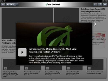 The Onion Tablet for iPad
