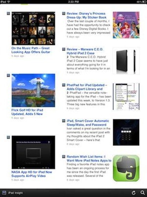 Feedly for iPad