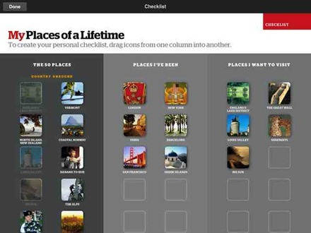 National Geographic 50 Place of a Lifetime iPad app