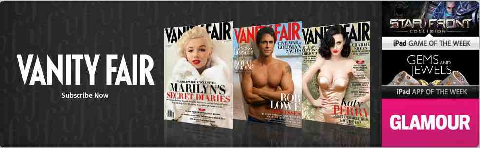 Vanity fair glamour allure and golf digest latest ipad magazines newipadmagazinesubscriptions four more major magazine titles have started offering subscriptions sisterspd