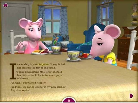 Angelina Ballerina's New Ballet Teacher iPad eBook