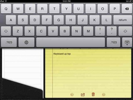 iPad keyboard can be moved in iOS 5