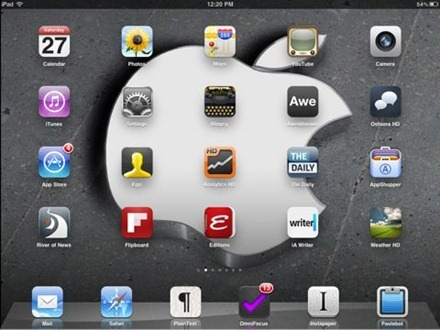 3D Apple logo iPad wallpaper