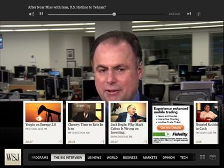 WSJ Live for iPad