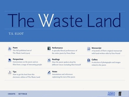 The Waste Land for iPad