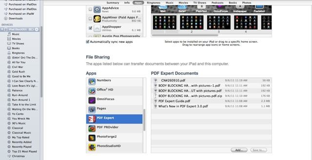 use pdf files on ipad