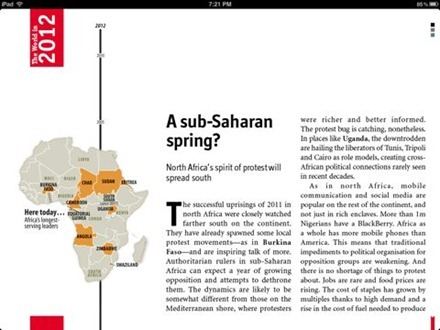 The World in 2012 from The Economist: Editor's Highlights for iPad