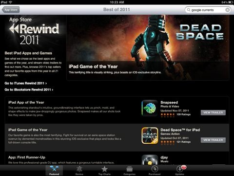 App Store Rewind 2011 – Apple's Picks for Best iPad Apps and