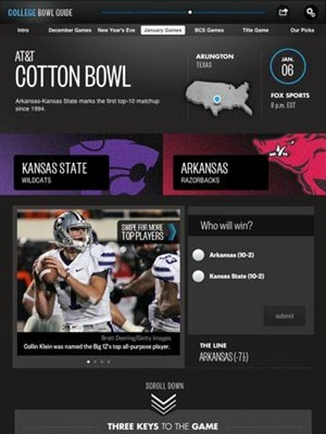 College Bowl Guide 2011-2012 for iPad