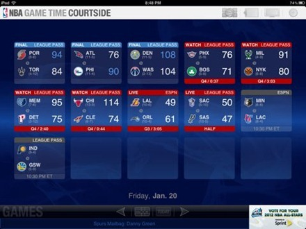NBA Game Time Courtside for iPad