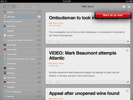 River of News for iPad