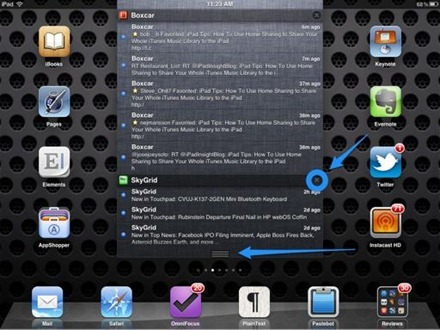 Notification Center on iPad