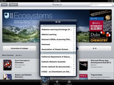 iTunes U Now Available, and Free, in the iPad App Store