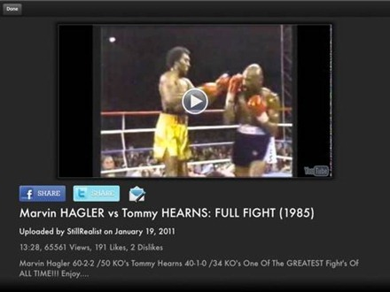 Hearns v Hagler