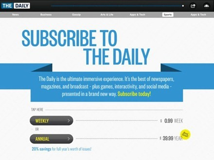 Subscribe to The Daily page