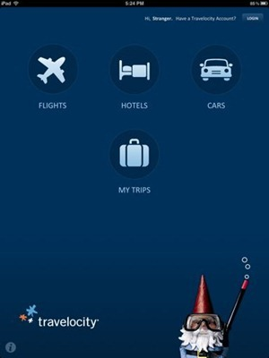 Travelocity for iPad main