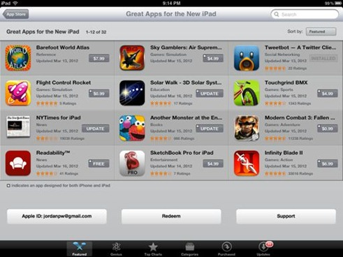 App Store Great Apps for the New iPad