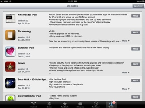 Apps Updating for Retina Display