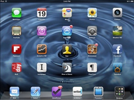 New iPad Home Screen