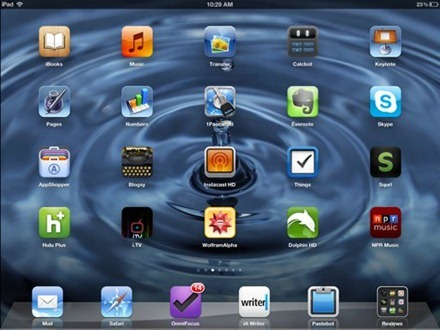 Water Droplet home screen
