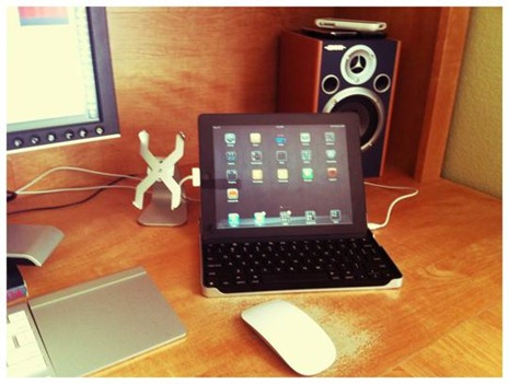 iPad on Desk setup
