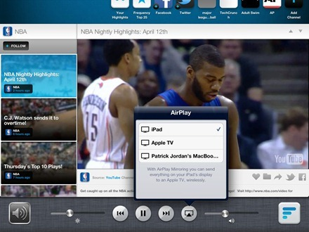 AirPlay on the iPad