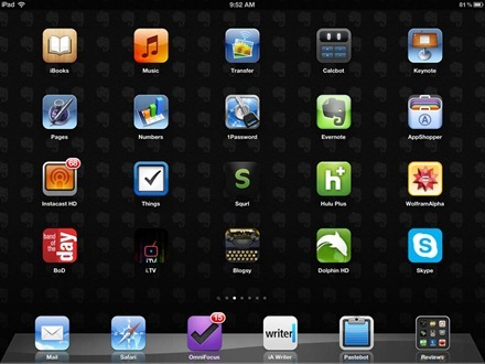 Evernote black iPad wallpaper
