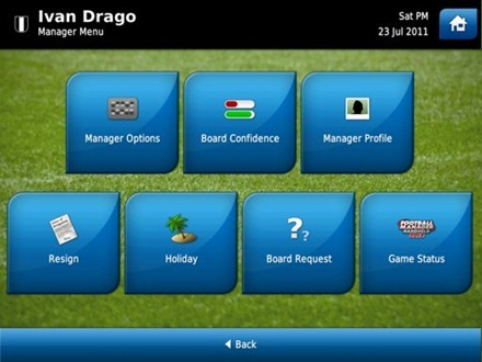 Football Manager Handheld 2012 iPad