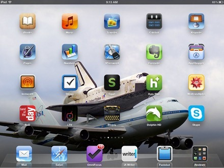 Hitchhiking Space Shuttle iPad home screen