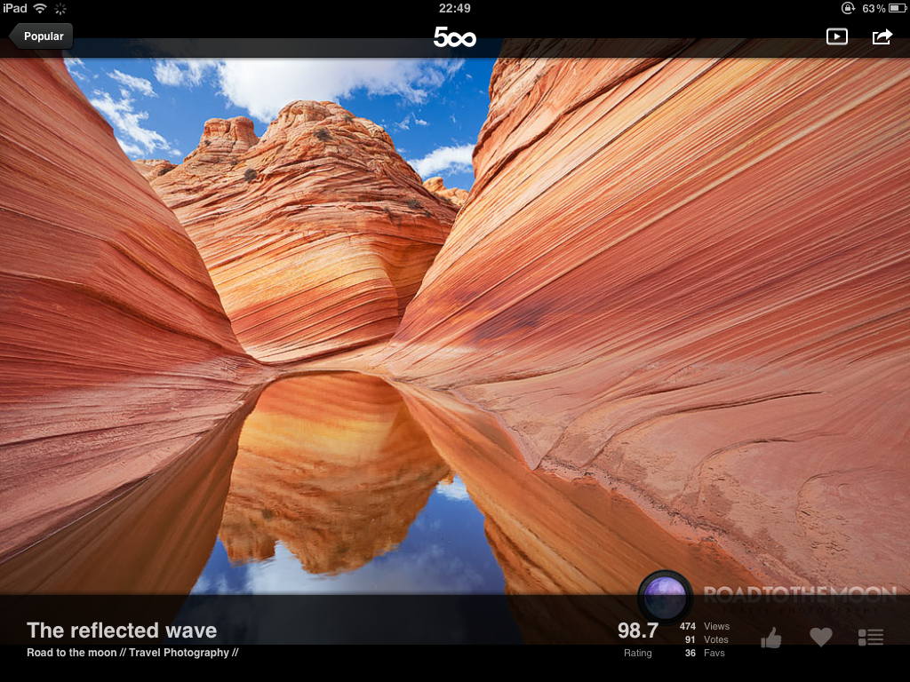 Best Free iPad App of the Week: 500px | iPad Insight
