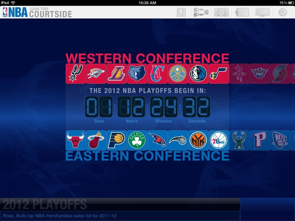Nba game time courtside for the ipad the nba s official ipad app