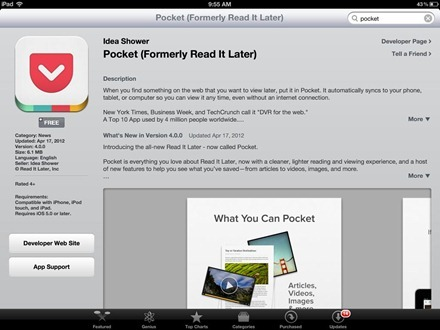 Pocket in App Store