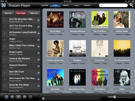 Shazam Player for iPad
