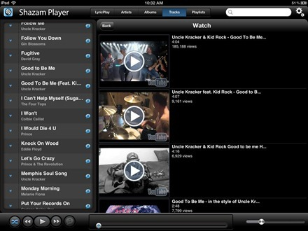 Shazam Player YouTube