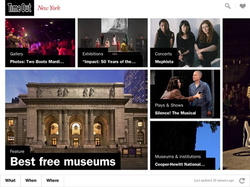 Time Out New York for iPad Events