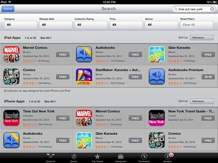 Time Out New York in App Store