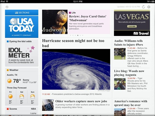 USA Today for iPad updated