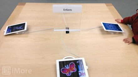 iPads at Kids Table in Apple Stores