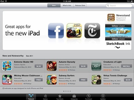 App Store Great Apps for New iPad