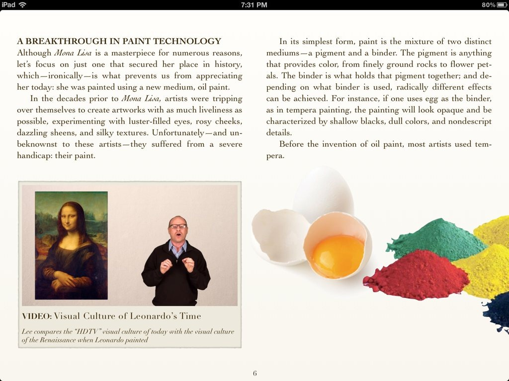 Cleaning Mona Lisa: A Great Example of How Good iBooks