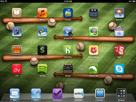 Baseball icon shelf iPad home screen